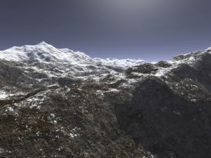 digital visualization of a mountain